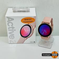 Samsung Samsung Galaxy Watch Active2 Rose Pink Gold 40 mm Aluminium NIEUWSTAAT! COMPLEET IN DOOS | nota (30-10-20)