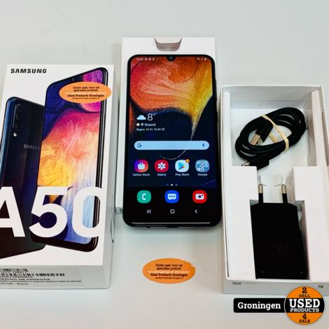 Samsung Galaxy A50 128GB Black Dual-SIM | Lichte schermschade | Android 10 | incl. lader en doos