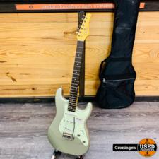 Schecter Schecter Nick Johnston Traditional Atomic Silver NIEUWSTAAT! Made in Indonesia + zwarte gitaarhoes