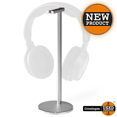 Nedis Koptelefoonstandaard Aluminium | Antislipvoetjes, 98 x 276 mm, Zilver | NIEUW