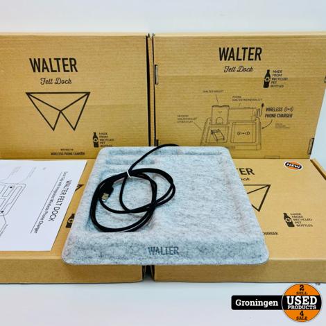 Walter Felt Dock Wireless Fast Charging PET Bamboo Dock   NIEUW