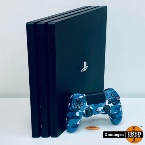 [PS4] Sony PlayStation 4 Pro 1TB Black CUH-7116B | incl. Sony DualShock 4 Camo controller en kabels