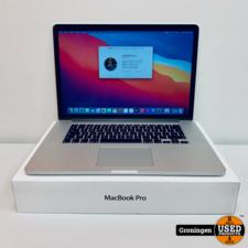 Apple Apple MacBook Pro Retina 15,4'' | 9 Cycli | Core i7 Quad | 8GB | 256GB SSD | macOS Big Sur | COMPLEET IN DOOS