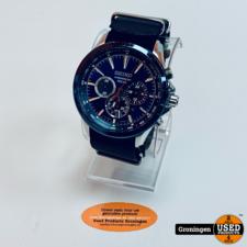 Seiko Seiko V175-0DM0 / SSC495P1 Solar horloge + katoenen bandje