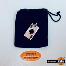 Sieraden Zilver 925 Zilveren hanger 'Ace of Spades'   30x17mm   10,38gr   incl. hoes