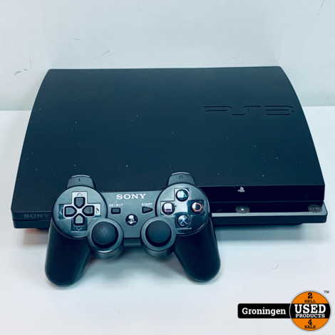 [PS3] Sony PlayStation 3 Slim 160GB Zwart incl. Sony DualShock 3 controller en kabels