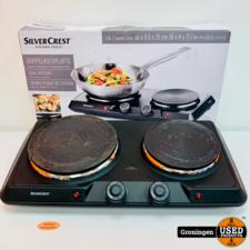 SilverCrest SilverCrest SDK 2500 B1 | Elektrische kookplaat | dubbel | 2500 watt