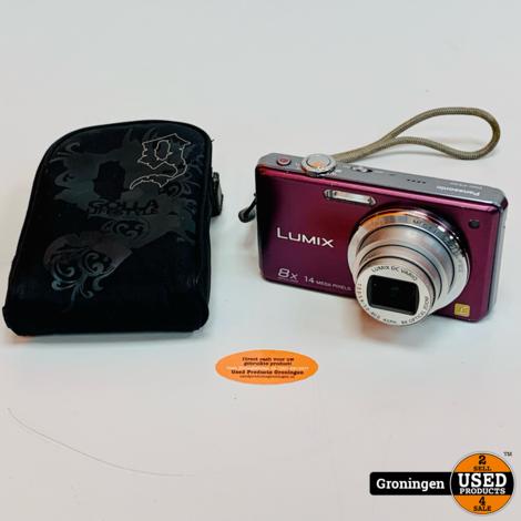 Panasonic Lumix DMC-FS30 Paars   14,1MP   8x optische zoom   incl. hoesje