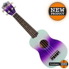 CLXmusic Ukelele Calista 21 Dual Colour Mint/Purple   NIEUW