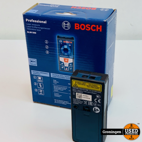 Bosch Professional GLM 500 laserafstandmeter   50m - 0601072H00   NIEUWSTAAT!