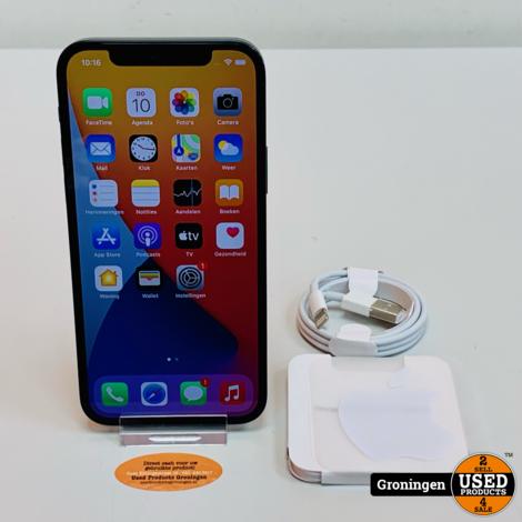 Apple iPhone 12 128GB Zwart NIEUWSTAAT! Accu 100% | Apple-garantie tot 26-05-22