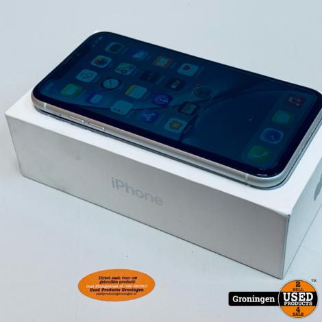 Apple iPhone XR 64GB White NIEUWSTAAT! Accu 93%   incl. lader, boekjes, doos