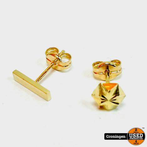 Gouden oorstekers 14 karaat | 0,45gr