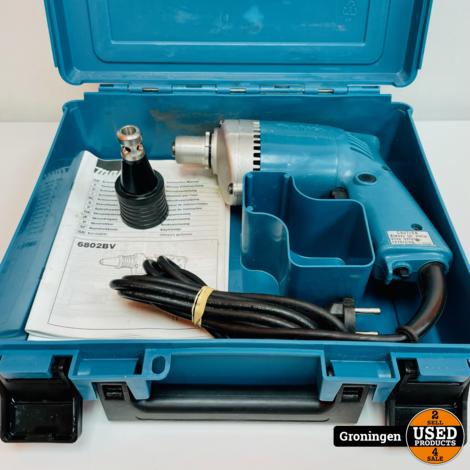 Makita 6802BV Elektrische schroevendraaier 510W   1/4'' zeskant   incl. opzetstuk, boekjes en koffer