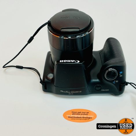 Canon Powershot SX430 IS Zwart Superzoom Compactcamera NETTE STAAT! incl. 32GB SD en lader