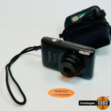 Canon Canon IXUS 130 Zwart   Digitale compactcamera   14MP   4x zoom   incl. hoesje en lader