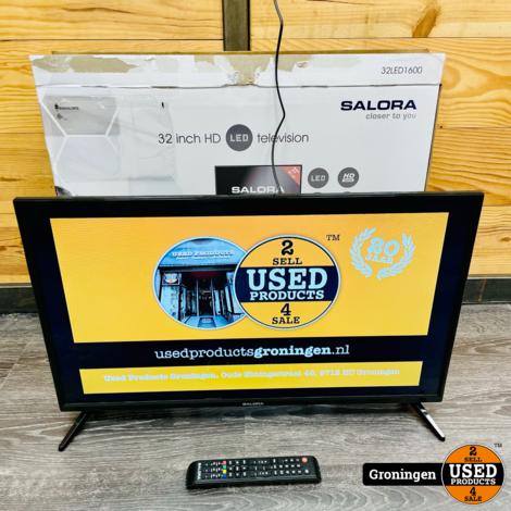 Salora 32LED1600 32'' HD LED TV | 2x HDMI | 2x USB | incl. AB en doos