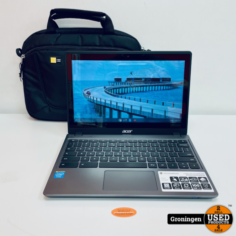 Acer Chromebook C720P 29554G03aii NETTE STAAT! 11.6'' Touch   4GB   32GB SSD   ChromeOS   incl. tas