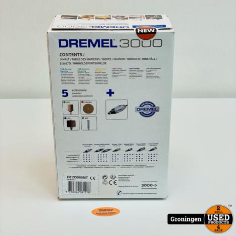 Dremel 3000-5 Multitool + Accessoires en Dremel detailhandgreep   NIEUW IN DOOS!