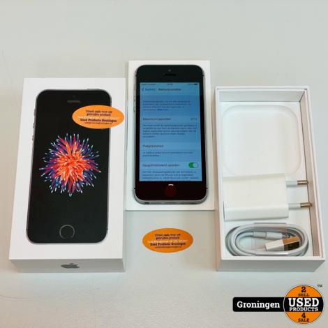 Apple iPhone SE 32GB Space Gray NETTE STAAT! Accu 97% | iOS 14.6 | incl. lader en doos