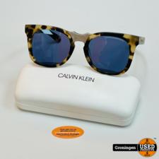 Calvin Klein Calvin Klein CKNYC1850S-244 Matte Khaki Tortoise zonnebril NETTE STAAT! incl. case