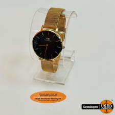 Daniel Wellington DW00100161 Classic Petite Melrose Black Ø32mm horloge B32R1 | Mesh-band