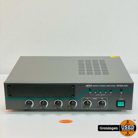 Jedia Mobile60 Power Mixing Zendversterker 60 watt   100,70, 22V   met MIC-ingang