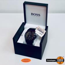 Hugo Boss Hugo Boss Black mod. 1513031 Chronograaf horloge Ø46mm   COMPLEET IN DOOS