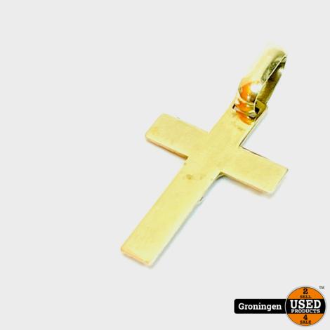 Gouden hanger Bi-Color 14 karaat 'Jezus' 23x15mm   1,25g