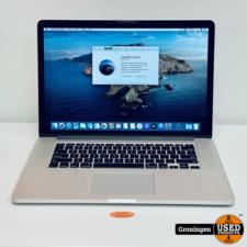 Apple Apple MacBook Pro 15,4'' Retina ME664N/A   Core i7 Quad   8GB RAM   256GB SSD   GT650M   macOS Catalina 10.15.7   Staingate, GEEN HDMI, Cardreader en 1x USB poort