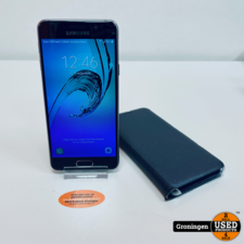 Samsung Samsung Galaxy A3 A310F 16GB Black | Android 7.0 | NETTE STAAT! incl. Samsung EF-WA310 Flip Wallet Cover