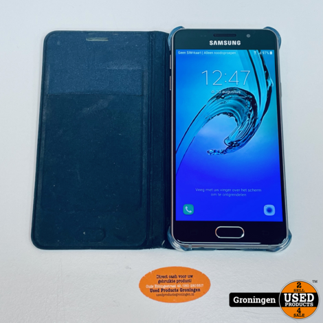 Samsung Galaxy A3 A310F 16GB Black | Android 7.0 | NETTE STAAT! incl. Samsung EF-WA310 Flip Wallet Cover