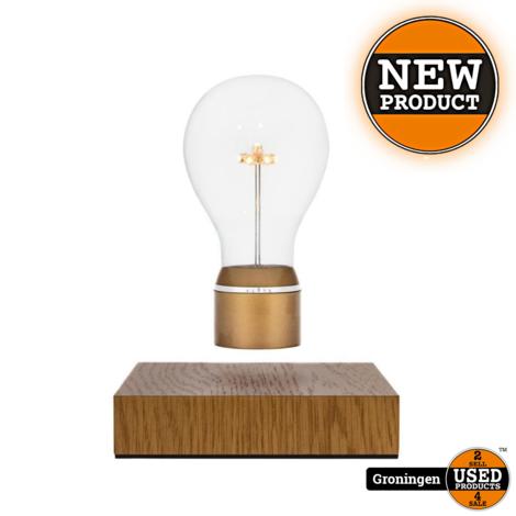 Flyte Royal zwevende tafellamp LED Oak / Gold | NIEUW IN DOOS!