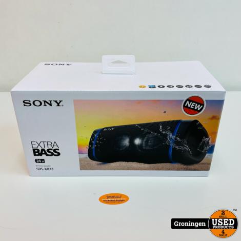 Sony SRS-XB33 Black | Stereo Bluetooth Speaker met EXTRA BASS-functie en speakerverlichting NIEUW IN DOOS!