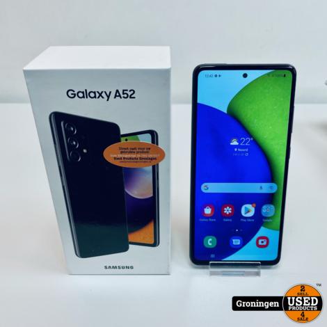 Samsung Galaxy A52 4G 128GB Awesome Black | incl. Snellader, doos en nota (23-05-21)