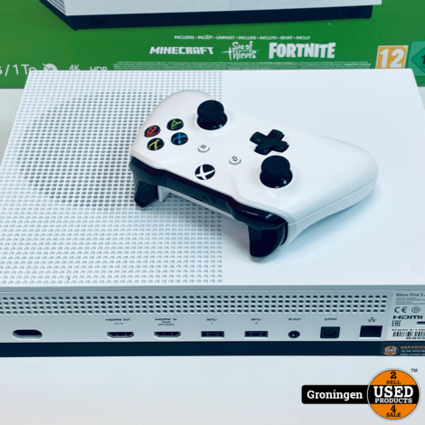 [Xbox One] Microsoft Xbox One S White 1TB All-Digital Edition   incl. Draadloze controller, kabels en doos