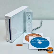 [Wii] Nintendo Wii White + Wii Sports en Wii Play | incl. Wii Remote + hoes en kabels