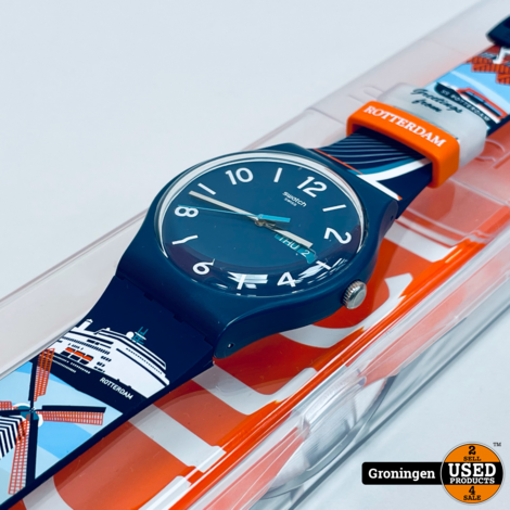 Swiss Swatch Special SUON705T - Bridge Between - Greetings From Rotterdam