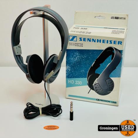 Sennheiser HD330 Hi-Fi Stereo Hoofdtelefoon incl. verloopplug, boekje en doos