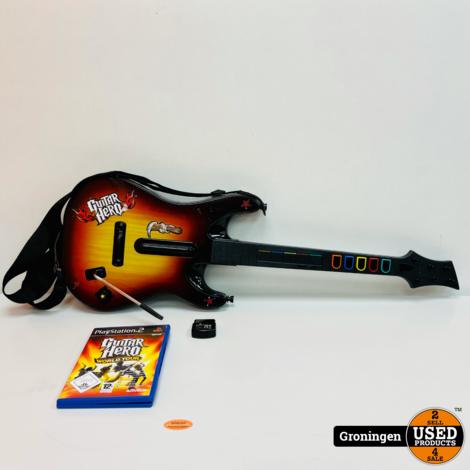 [PS2] Guitar Hero - World Tour + Guitar | incl. ontvanger