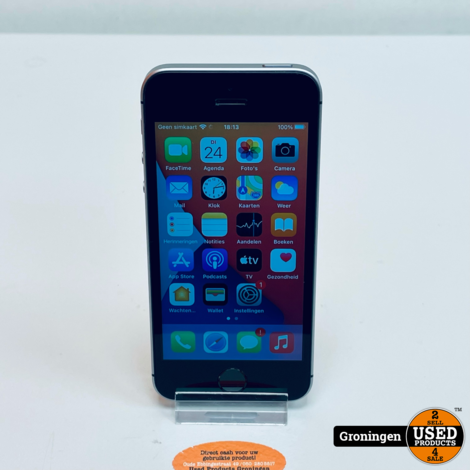 Apple iPhone SE 32GB Space Gray NETTE STAAT! Accu 92%   iOS 15