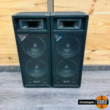 SkyTec SM28 Disco PA luidspreker SET   2x8'' - 500W