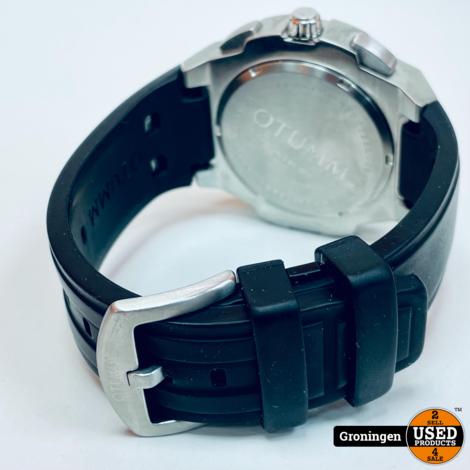 OTUMM Speed 45-001 Ø45mm Steel Black horloge | incl. boekjes en doos