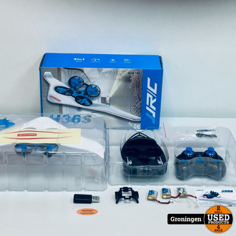 H36S 3-in-1 Vehicle/Drone/Hovership RC | incl. 3 accu's, lader en doos