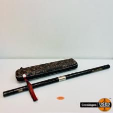 Chinese Dizi fluit van Sandalhout 67cm | incl. accessoires