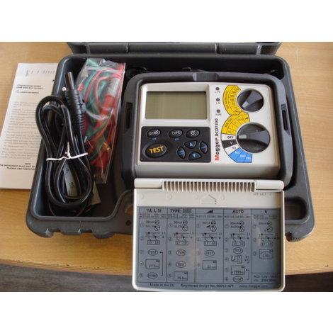 Megger RCDT330 FI/RCD-TESTER Compleet als nieuw in koffer.