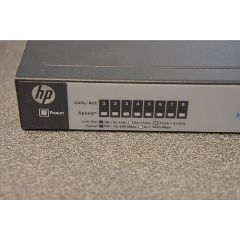 HP 1410-8g switch inclusief voeding