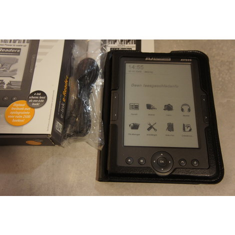 Autovision av-606 e-reader in nette staat compleet in doos
