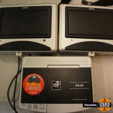 Akai Akai ECV6607 Portable DVD-setje met 2 schermen voor in de auto