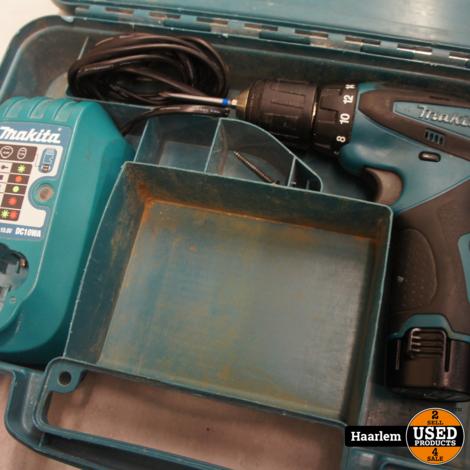 Makita df330d boor / schroefmachine in koffer inclusief 1 x accu en 1 x oplader 10.8v